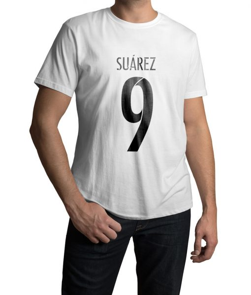 Luis Suarez No 9 Logo Half Sleeves T shirt
