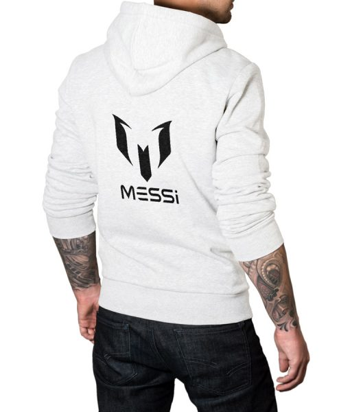 Logo Pullover Hoodie For Messi Fans