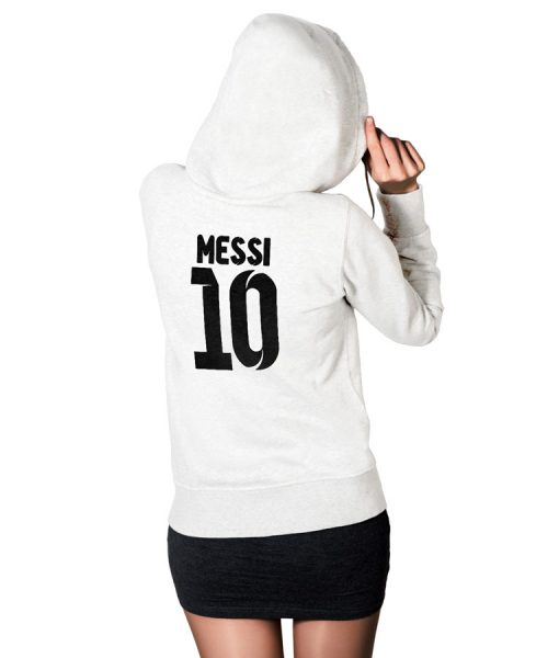 Messi No 10 Logo Hoodie For Women