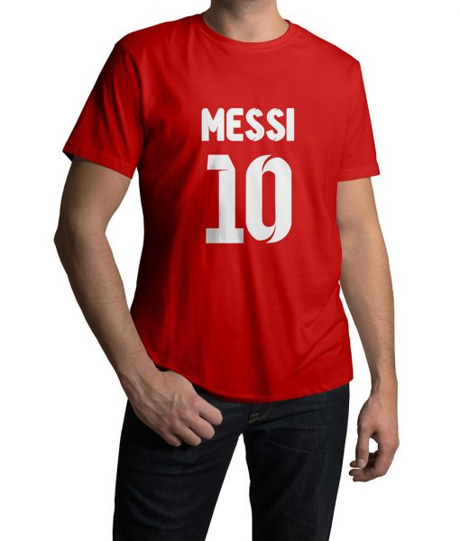 Lionel Messi No 10 Logo T shirt