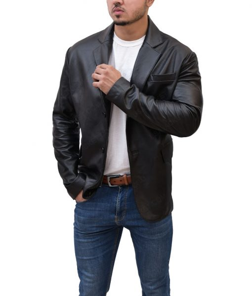 unt Tom Cruise Black Leather Jacket