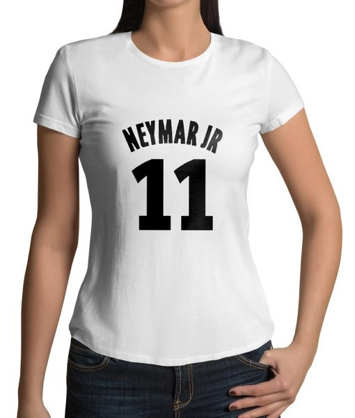 Neymar JR No 11 Logo Half Sleeves T shirt