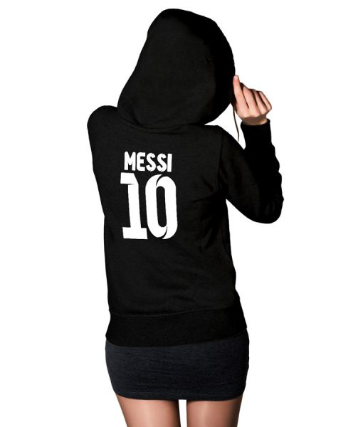 No 10 Messi Logo Hoodie For Women