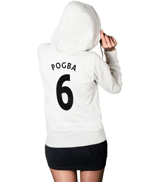Paul Pogba No 6 Logo Hoodie For Women