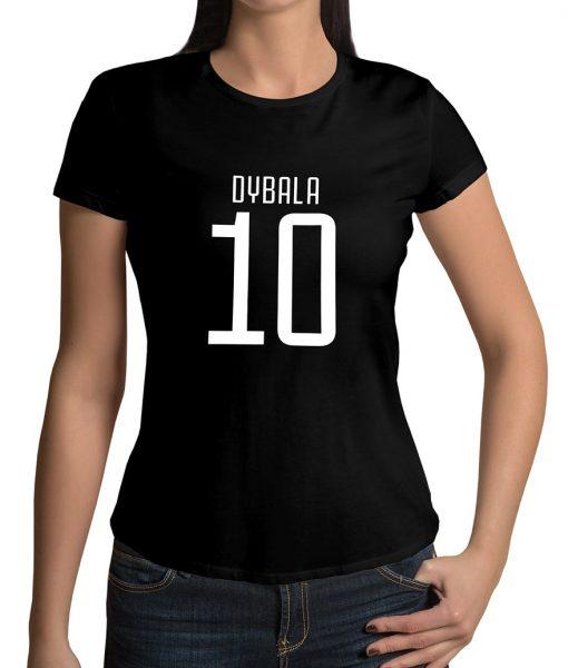 Paulo Dybala No 10 Logo Half Sleeves Tshirt