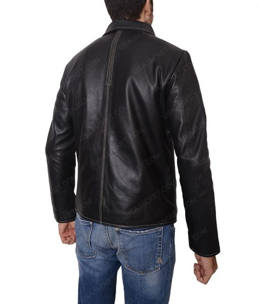 Replica Daniel Craig Layer Cake Black Leather Jacket