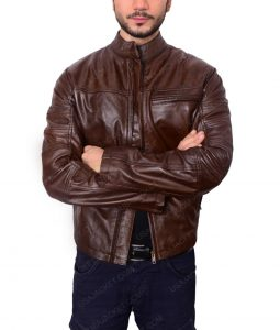 Ronin Roland Sands Brown Leather Jacket