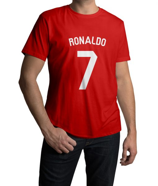 Ronaldo No 7 Logo Half Sleeves T shirt