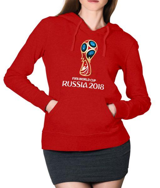 Russia FiFA Logo Hoodie For Women