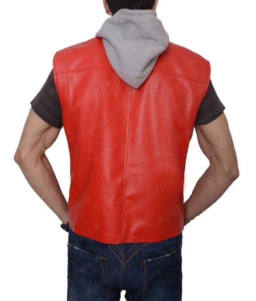 Terry Bogard The Kings Of Fighters Orange Gaming Hooded Leather Vest