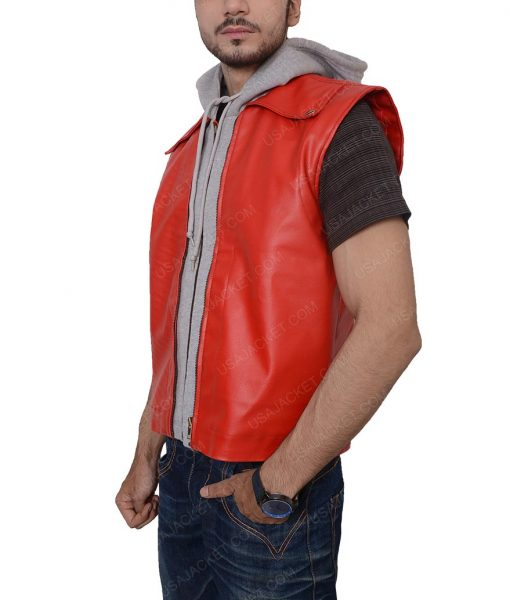 Terry Bogard The Kings Of Fighters Hooded Leather Vest