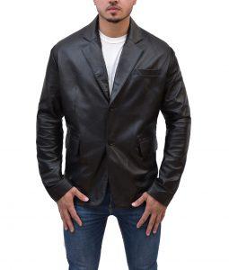 Mission Impossible Tom Cruise Black Leather Jacket