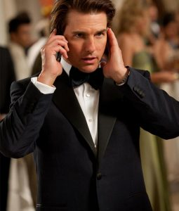 Mission Impossible 4 Tom Cruise Blue Tuxedo Jacket