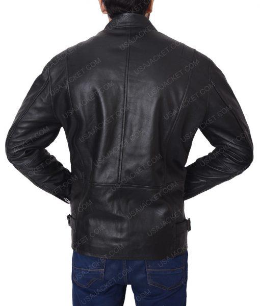Matthew Mcconaughey True Detective Rustin Cohle Black Leather Slimfit Jacket