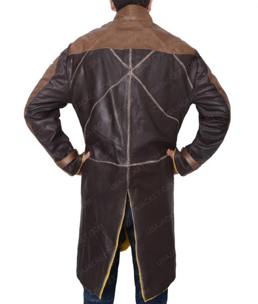 Aiden Pearce Watch Dogs 2 Video Game Leather Coat
