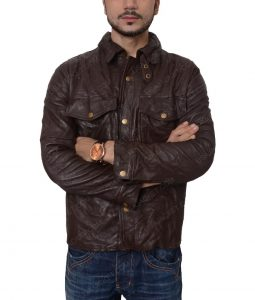 William Levy Addicted Movie Brown Leather Jacket