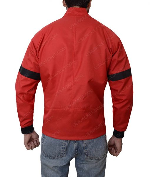 Smokey And The Bandit Red Leather Bomber Jacket