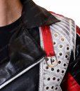 Cameron-Boyce-Leather Studded jacket