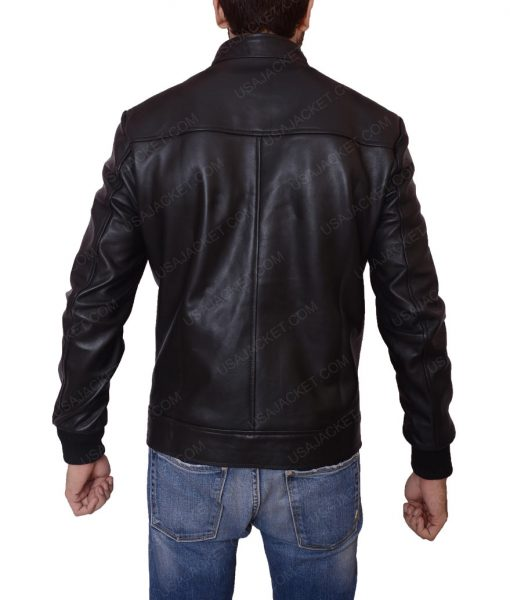 Lakers Game David Beckham Leather Jacket