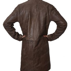 Boyd Holbrook Logan Donald Pierce Brown Leather Jacket