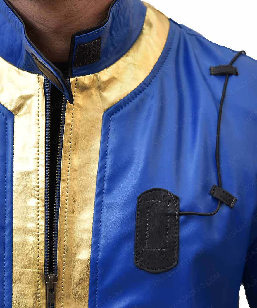 Fallout 76 Game Blue Slimfit Leather Jacket