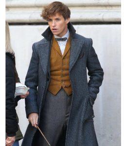 Newt Scamander Grey Wool Trench Coat