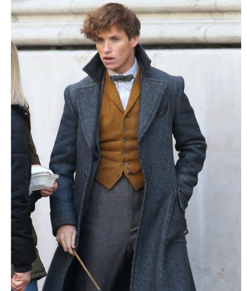 Newt Scamander Grey Wool Trench Coat