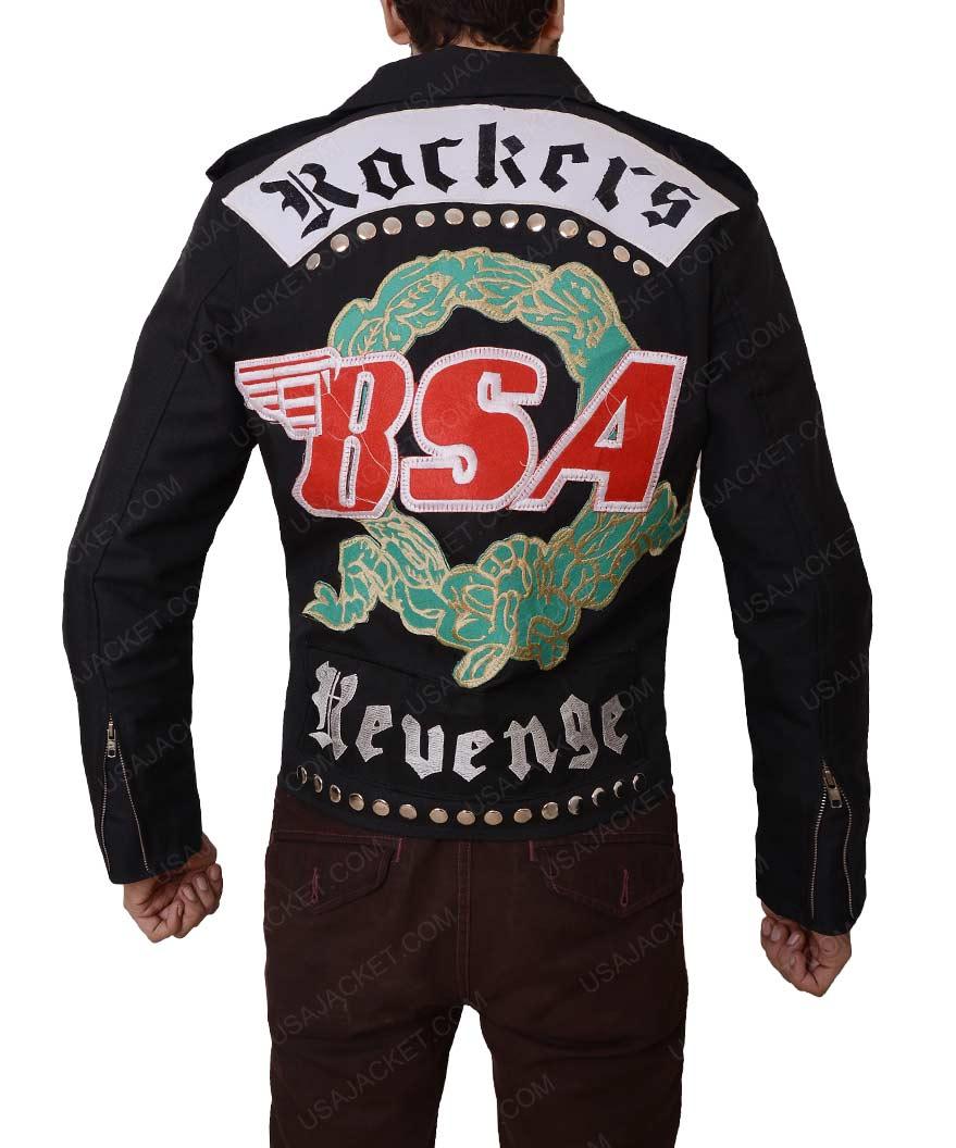 Rockers Revenge George Michael Black Slimfit Leather Jacket