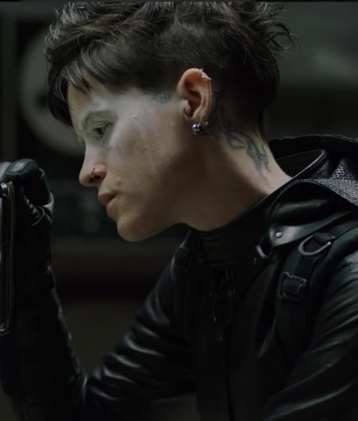 Lisbeth-Salander hooded leather jacket