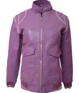 Alison Brie Glow Ruth Wilder Purple Café Racer Bomber Jacket