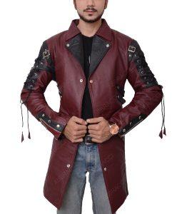 Goth Matrix Steampunk Gothic Maroon Coat