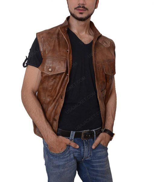 Grant Bowler Defiance Slimfit Brown Vest