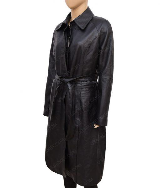 Katherine Waterston Fantastic Beasts 2 Leather Coat