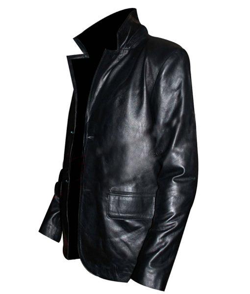 Kurt Russell Black Leather Coat Jacket