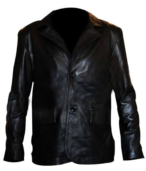 Kurt Russell Black Leather Jacket