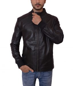 Lakers Game Black Leather Jacket
