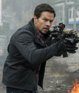 Mile 22 Mark Wahlberg Black Cotton Jacket