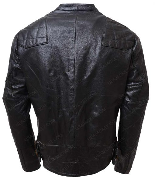 Mens Slimfit Cafe Racer Leather Jacket
