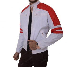 Mens Detailed Slimfit Leather Jacket