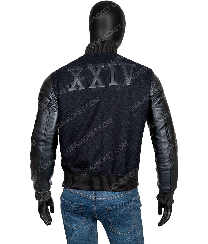 b2699883daf Michael B. Jordan Creed Adonis Johnson XXIV Black Varsity Jacket