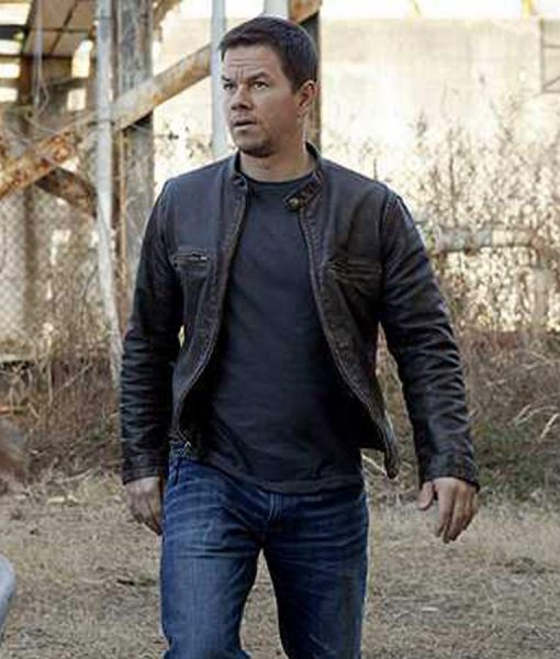 Mile 22 Mark Wahlberg Leather Jacket