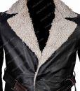Mortal Engines Leifur Sigurdarson Grey Fur Long Coat