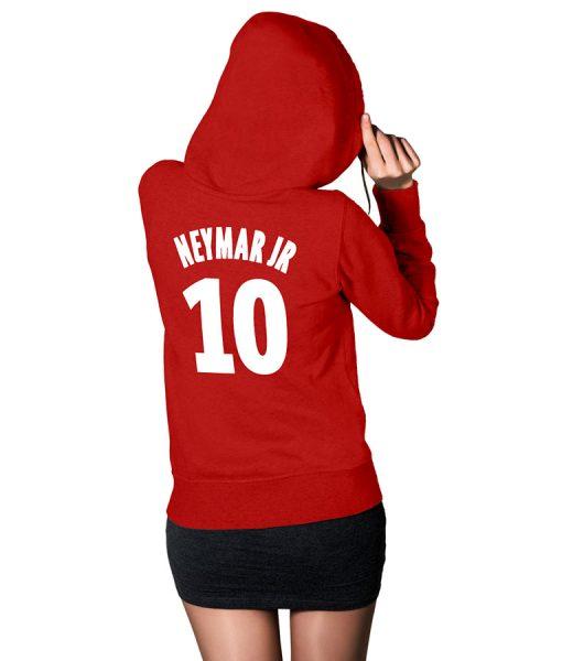 Neymar10-Red-Hoodie
