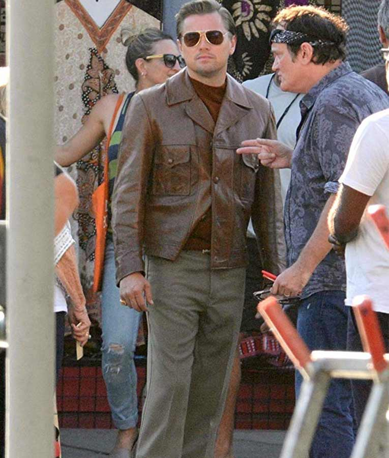 Once Upon A Time In Hollywood: Once Upon A Time In Hollywood Rick Dalton Brown Leather Jacket