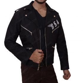 Rockers BSA Revenge George Michael Black Slimfit Leather Jacket