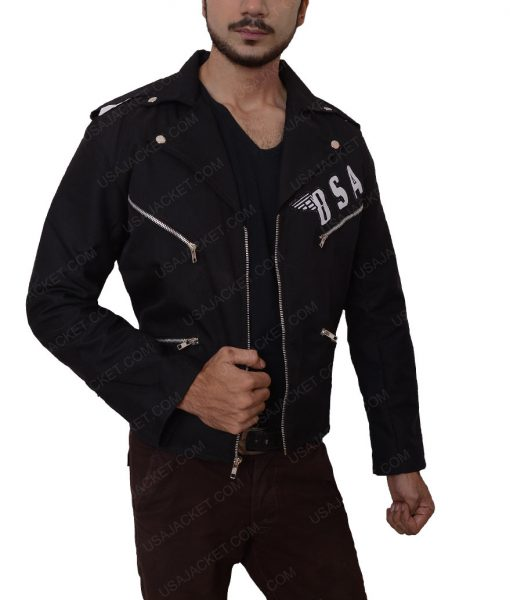 Rockers BSA Revenge George Michael Black Slimfit Leather Jacket