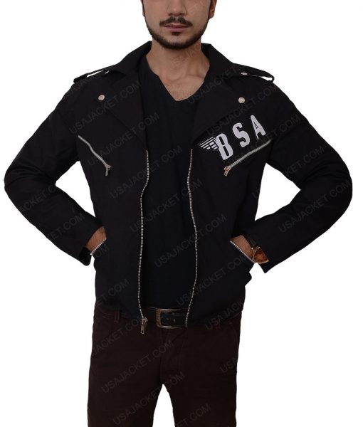Rockers BSA Revenge George Michael Slimfit Leather Jacket
