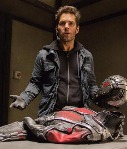 Scott Lang Ant Man And The Wasp Paul Rudd Blue Cotton Jacket