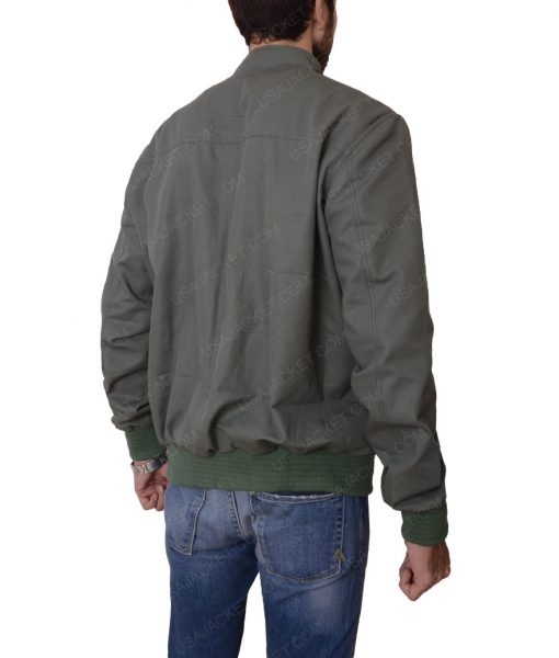 The Gunman Sean Penn Slimfit Bomber Green Jacket