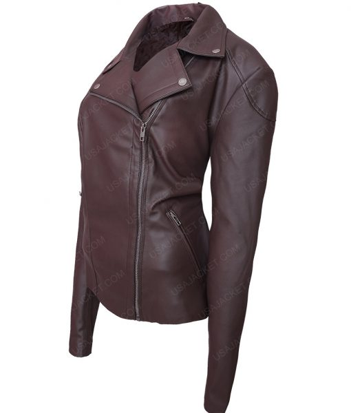 The Fate of the Furious Michelle Rodriguez Brown Jacket